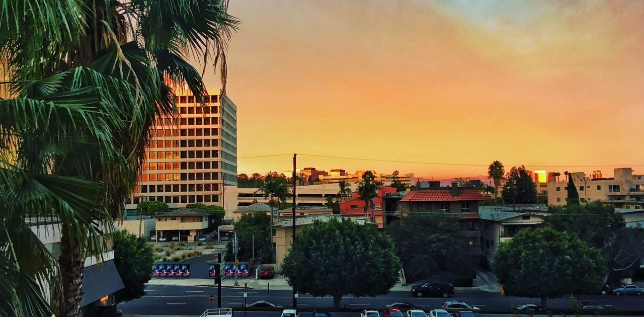 Ynov Informatique Ingesup à UCLA Extension - Coucher de soleil sur Los Angeles