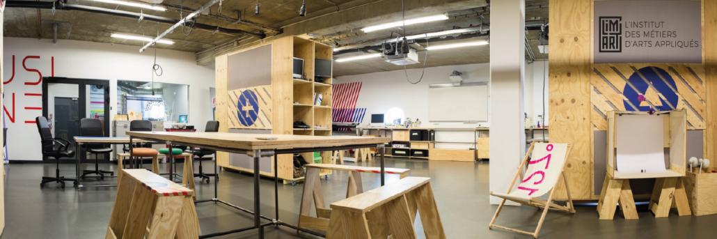 Atelier Découpe laser étudiants architecture interieure et design