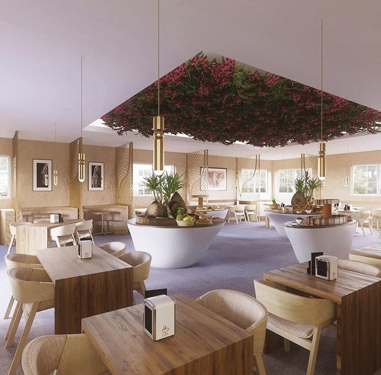 amenagement-hotel-petit-dej_Maquettes_limart_architecture-interieur-et-designe_bordeaux-ynov-campus