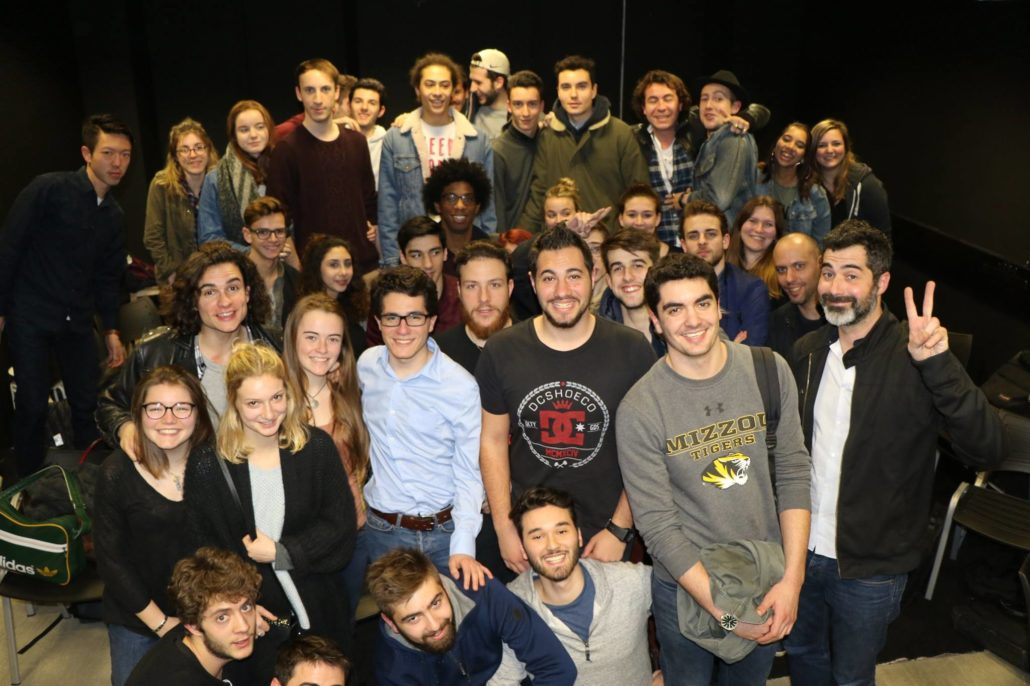 étudiants ynov audiovisuel avec Franck Bellocq