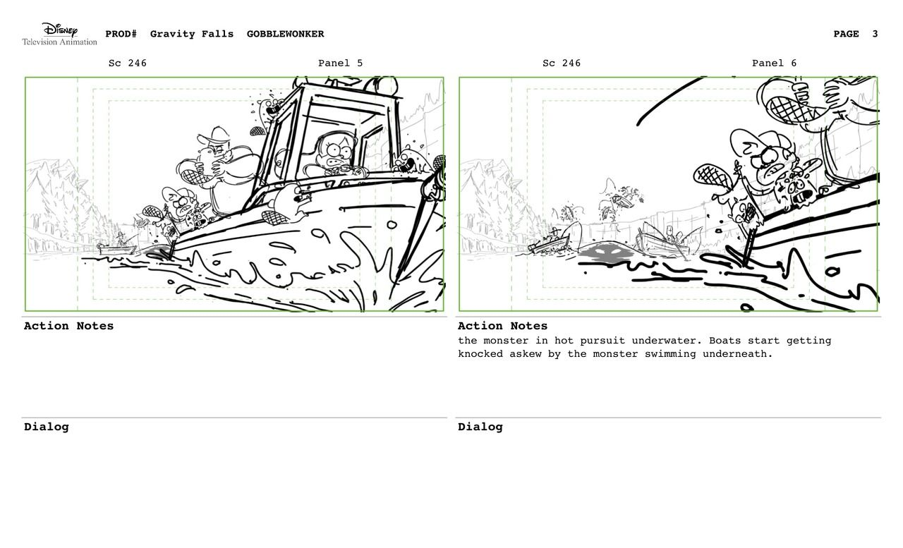 Storyboarder Gravity Falls