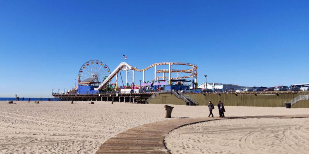 echanges-universitaires_annee-etranger_UCLA_Los-Angeles_bordeaux-ynov-campus_ Santa Monica Pier