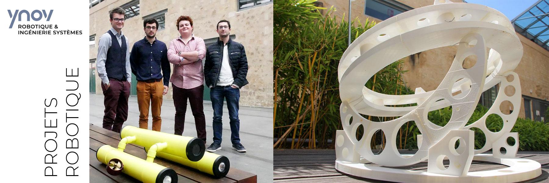 ecole robotique projets etudiants