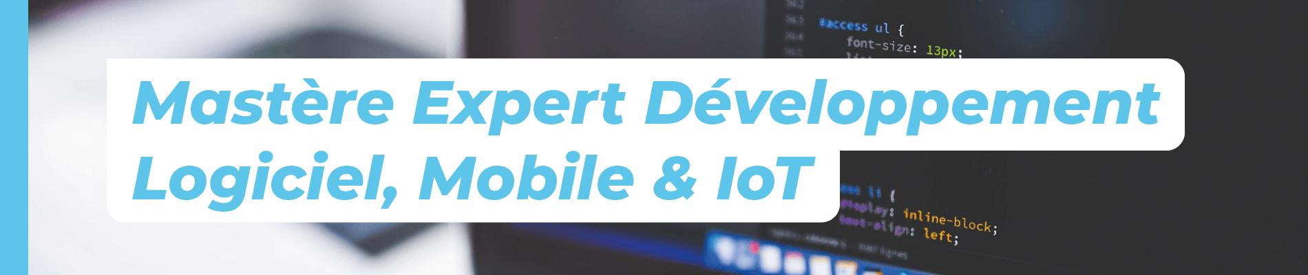 Mastère Développement Logiciel, mobile et IoT