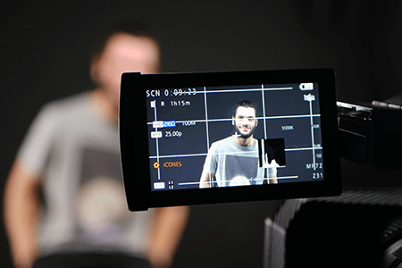 Cadrage lors d'un tournage